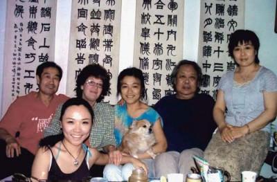 Традиционная встреча дома у друга и учителя, знаменитого художника, мастера ушу и каллиграфии Сюй Футуна. 2007 г.
